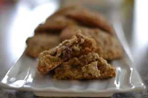 oatmeal cookies filled with chewy soft naturally sweet dates